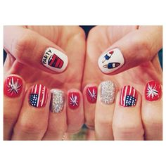 maddie512's festive tips. Show us your 4th of July-inspired nails! Tag your pic #SephoraNailspotting to be featured on our social sites.
