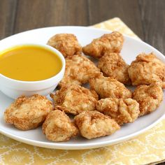 Homemade Chicken Nuggets with Honey-Mustard Sauce