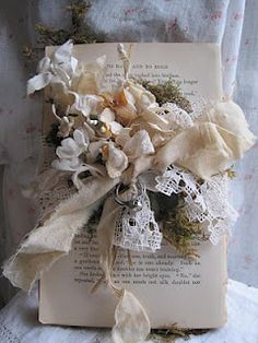 shabby chic ring bearer book