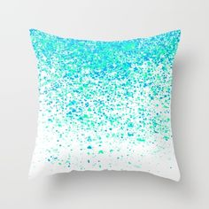 sparkling mint Throw Pillow by Bunny Noir. Worldwide shipping available at Society6.com. Just one of millions of high quality products available.