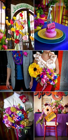 I just couldn't resist featuring this fun Cinco de Mayo inspired photo shoot by Greg Blomberg Photography and Bows and Arrows today. All of the fabulous color popping off the page is just making my Cinco de Mayo loving heart