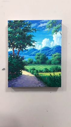 Small Canvas Paintings, Small Canvas Art, Diy Canvas Art, Painting Canvas, Landscape Paintings, Scenary Paintings, Sunset Paintings, Nature Paintings, Art Paintings