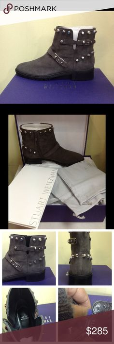 Gorgeous Stuart Weitzman Booties Selling with everything you see in pics. They're beautiful sadly again, my daughter won't be able to wear them! 😍😘 Stuart Weitzman Shoes