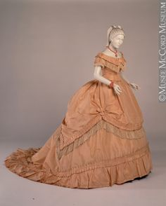 Dress ca. 1868-1867 via The McCord Museum.