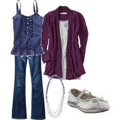 postpartum cardi and jeans