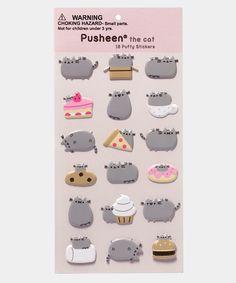 Pusheen Puffy Bubble sticker sheet - Hey Chickadee