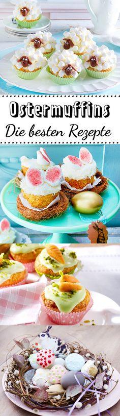 Es gibt viele #Rezepte für #Ostermuffins. Aber wenn du Schäfchen-Muffins mit Marshmellows oder Ostereier-Cupcakes mit #Eierlikör magst, dann lasse dich von unseren Ostermuffin-Rezepten inspirieren.