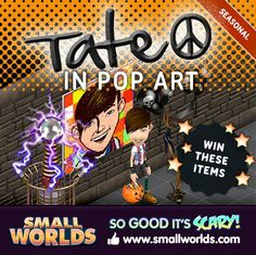 Win a Tate In Pop Art Painiting, A Grim Reaper Scythe, A Tesla Coil, A Pumpkin Candy Basket, & Halloween Balloons.. Enter the contest now! Good luck to all.
