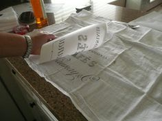 Me, Myself and Tena: Make your own tea towels