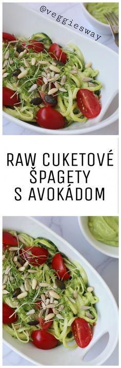 Raw cuketové špagety s avokádovou omáčkou - Veggie´s Way Cabbage, Vegetables, Food, Essen, Cabbages, Vegetable Recipes, Meals, Yemek, Brussels Sprouts