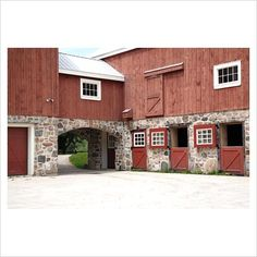 Amazing barn, horse stalls. I like the look as a home's exterior as well.