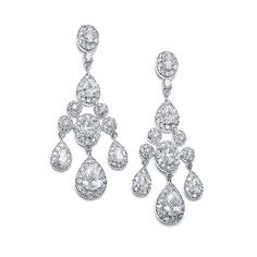 Regal Wedding Chandelier Earrings In Pave Encrusted Cz Bridal Accessories Jewelry Bridesmaid