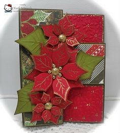 Crafting with Class: Patti's Poinsettias
