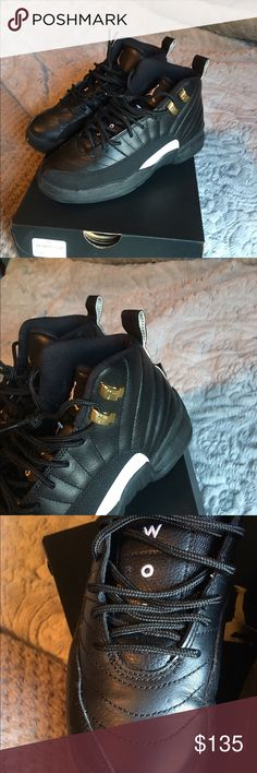 Jordan retro 12s Masters authentic Jordan 12s size 3.5gs. Fits 5.5/6 women's. Worn once or twice. One side is perfect and the other has a small crease as shown in photos. Jordan Shoes Sneakers