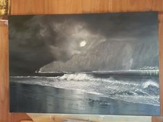 B&W Seascape My Arts, Painting, Painting Art, Paintings, Painted Canvas, Drawings