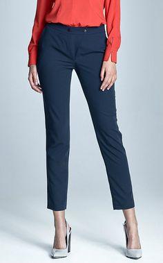 Pantalon bleu marine femme tailleur Chic qualité SD22 NIFE  36 38 40 42 44