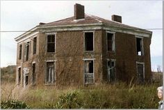 """Built by Abijah Thomas in 1856. Located on the South Fork, in the southwest region of Virginia, at 631 Octagon House Road. Google Maps: 36.774273, -81.569865. Details in a book, """"Abijah Thomas and the Octagon House,"""" written by Mack Sturgill, available in the Smyth-Bland Regional library in Marion."""