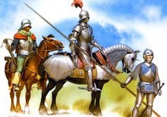 German 'High Gothic' knight of the 15th century on campaign