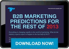 See what the industry experts predict for #B2BMarketing in the rest of 2013! #InboundMarketing