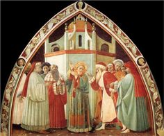 Disputation of St Stephen - Paolo Uccello - Early Renaissance