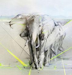 dibujos con lapiz grafito elefante Inspiración: Ilustraciones con lápiz por Alexis Marcou