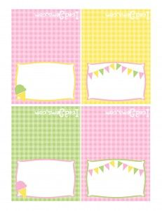 pink green yellow printables