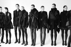 Androgynous line up.