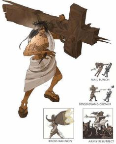 海外の「キリストを格闘ゲームキャラにしたら」っていう画像が楽しすぎる。手のひらの杭パンチとか茨冠ブーメランとか腹筋がやばい... on Twitpic