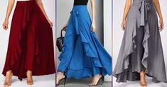 Строго говоря, юбки палаццо выглядят юбками только визуально. На самом деле, это...