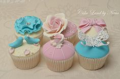 Teal and pink cupcakes | Flickr - Photo Sharing!