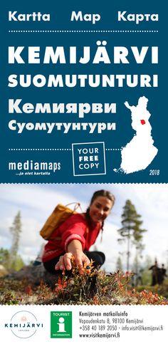 Uusi Mediamapsin Kemijärvi -kartta on ilmestynyt