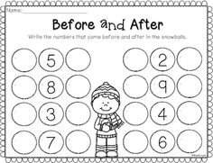 Winter No Prep Math and Literacy Worksheets for Kindergarten - Colorful Dreams Kindergarten Nursery Kindergarten Math Worksheets, Preschool Learning, Teaching Math, Math Activities, Number Worksheets, Kindergarten Prep, Kindergarten Classroom, Math Numbers, Math For Kids