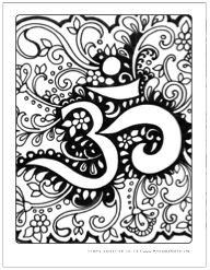 om symbol free art therapy coloring pages