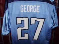 Vintage Eddie George #27 Tennessee Titans Football Jersey Size L #NFLEquipment #TennesseeTitans