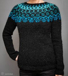 Knitwear by unneva: Lopi sweater Fair Isle Knitting Patterns, Fair Isle Pattern, Knitting Designs, Knit Patterns, Icelandic Sweaters, Wool Sweaters, Knitting Yarn, Hand Knitting, Fair Isles