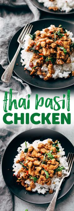 Garlic Lovers Thai Basil Chicken - Learn how to make authentic, restaurant-style basil chicken at home! A quick recipe that won't take you long at all! #thaibasilchicken #basilchicken #thaifood #basilchickenstirfry #chickenstirfry | Littlespicejar.com