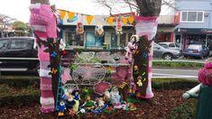 Breast Cancer Survivor Tree ~Greerton Village Yarn Bombing 2014