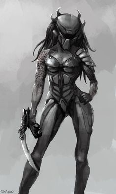 Discover recipes, home ideas, style inspiration and other ideas to try. Alien Vs Predator, Predator Cosplay, Predator Costume, Predator Alien, Predator Movie, Alien Creatures, Fantasy Creatures, Female Yautja, Alien Drawings