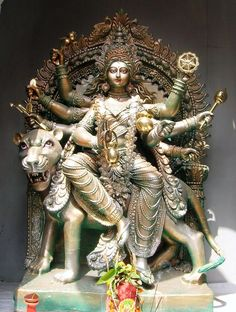 Navratri, Durga Puja: Worshipping The Divine Mother - statue of Kushmanda, one of the nine forms of Shakti