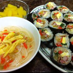Kimbap with noodle - Korean food