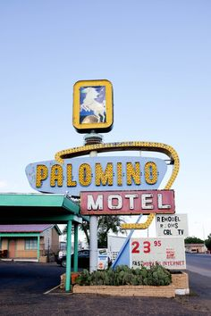 One of my favorite neon signs alongs Route 66, the Palomino Motel in Tucumcari, NM. //  Route 66 // saltycanary.com