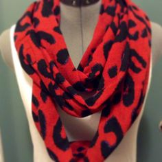 RED and BLACK bold infinity print scarf!/Only one/For her/Women's fashion/girls/lightweight by AmshinaApparel on Etsy