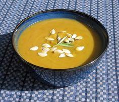Pumpkin-Potato Soup with Fresh Sage, Rosemary, & Basil | Cooking with Corey. Pumpkin soup makes a great fall holiday dish! #healthy #vegetarian #vegan #pumpkin #sweet #potato #fresh #herbs #spices #sage #rosemary #basil #fall #autumn #winter #halloween #thanksgiving #holiday #cookbook #recipe