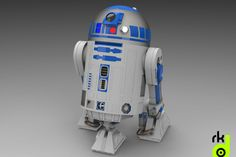 CAD model R2d2 to download for Solid works available STEP file with animation great renders.