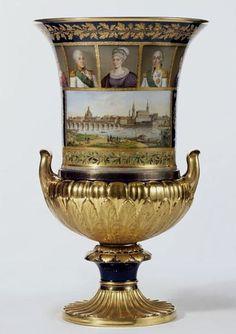 Meissen vase with Royal portraits
