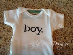Personalized Baby Boy. Girl. Infant Onesie by NYLAKELLEYDESIGNS, $15.99