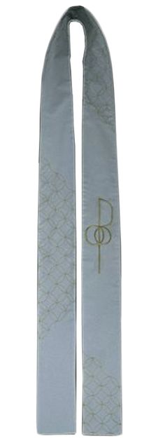 Gift for officiant- like the Japanese embroidery - Sashiko Spirit and Unity Stole - The stitching on this stole is done in a Japanese sashiko pattern which is a continuous line of interlocking circles. Incorporating an embroidered wedding cross, this stole is often referred to by the name spirit and unity.