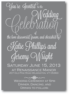 Printable Wedding Invitation Suite with RSVP by WrittenInDetail, $35.00