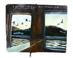 Artist Missy Dunaway painted her travel adventures in Moleskine notebooks and the results are amazing.