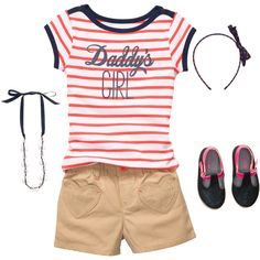 Daddy's Girl Kid Girl ❤ liked on Polyvore featuring baby, baby clothes and kids